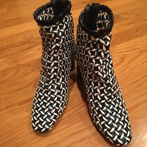 Zara Woven Ankle Boots